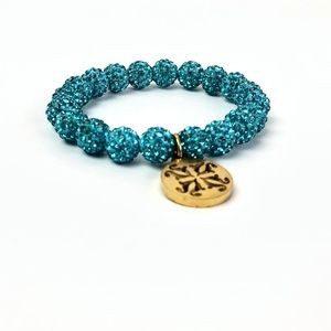 Rustic Cuff Emerson Light Turquoise/Gold RC Logo